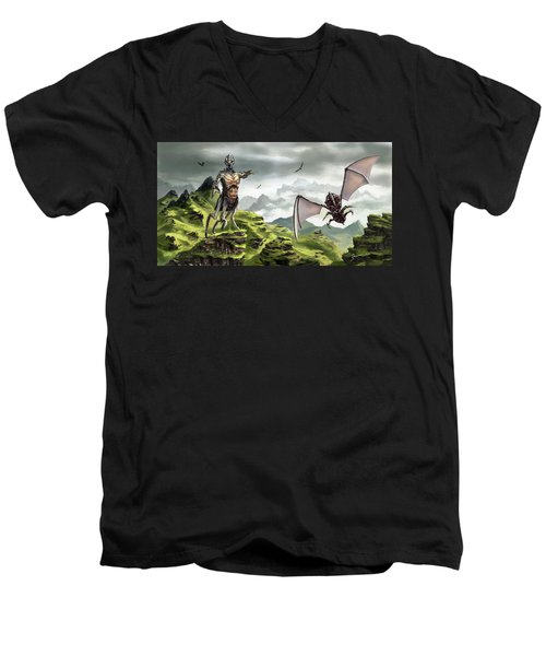 Hunter - Hound Men's V-Neck T-Shirt