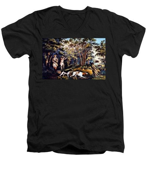 Hunting: Woodcock, 1852 Men's V-Neck T-Shirt by Granger