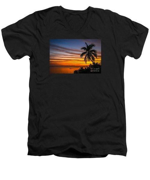 Hutchinson Island Sunrise #1 Men's V-Neck T-Shirt