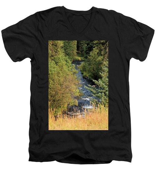 Hyalite Creek Overlook Men's V-Neck T-Shirt