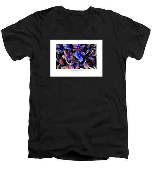 Hydranga Hues Men's V-Neck T-Shirt