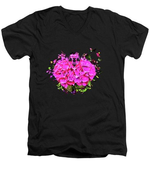 For The Love Of Hydrangeas Men's V-Neck T-Shirt