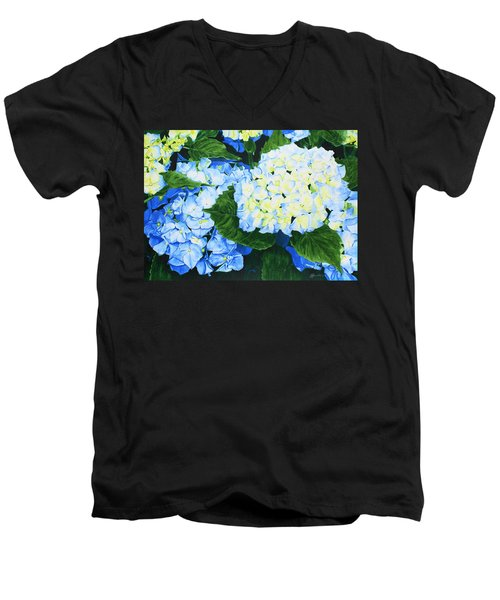 Hydrangeas Men's V-Neck T-Shirt