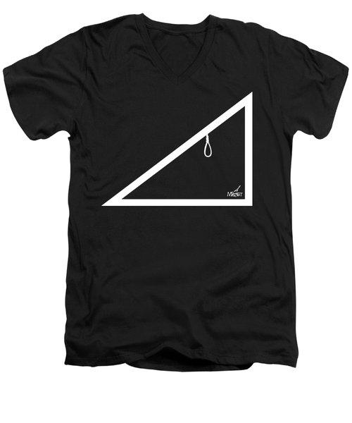 Hypotenoose White Men's V-Neck T-Shirt