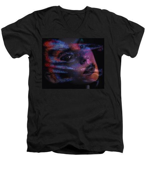I Breathe Art Therefore I Am Art Men's V-Neck T-Shirt