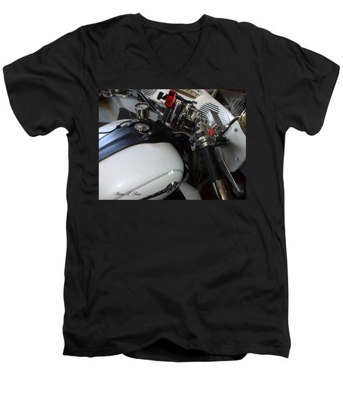 Men's V-Neck T-Shirt featuring the photograph I Can Handle It by Shana Rowe Jackson