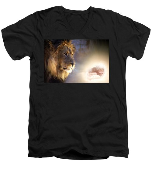 I Knew You Before You Were Born Men's V-Neck T-Shirt by Bill Stephens