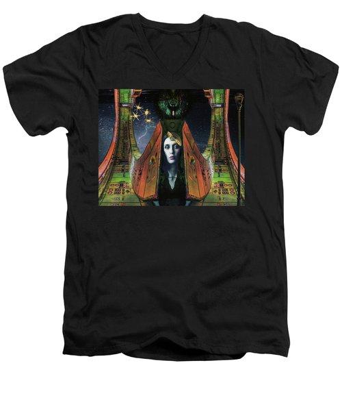 I Live Beyond Here Men's V-Neck T-Shirt