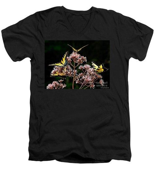 I Love Butterflies  Men's V-Neck T-Shirt by Christy Ricafrente