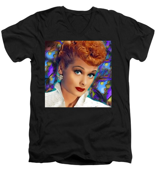 I Love Lucy Men's V-Neck T-Shirt