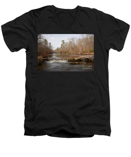 I Love To Go A Wanderin' Yellow River Park -georgia Men's V-Neck T-Shirt