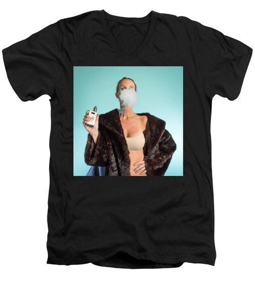 I Love To Vape Men's V-Neck T-Shirt by Lisa Piper