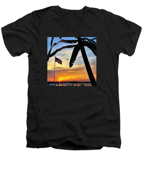 I Never Tire Of Sunsets Men's V-Neck T-Shirt