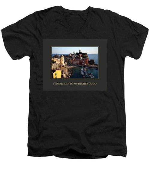 I Surrender To My Higher Good Men's V-Neck T-Shirt