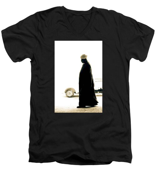 Men's V-Neck T-Shirt featuring the photograph I Try To Be Positive  by Jez C Self