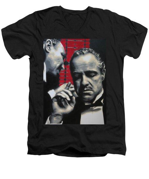 I Want You To Kill Him 2013 Men's V-Neck T-Shirt by Luis Ludzska