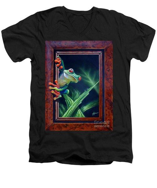 'i Was Framed' Men's V-Neck T-Shirt