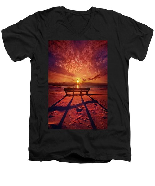 Men's V-Neck T-Shirt featuring the photograph I Will Always Be With You by Phil Koch