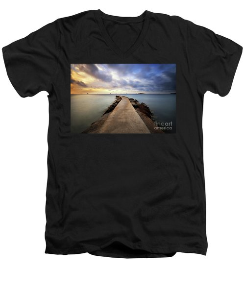 Ibiza Summer Mix 6.0 Men's V-Neck T-Shirt by Yhun Suarez