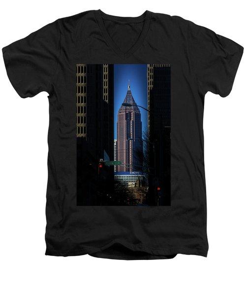 Ibm Tower Men's V-Neck T-Shirt