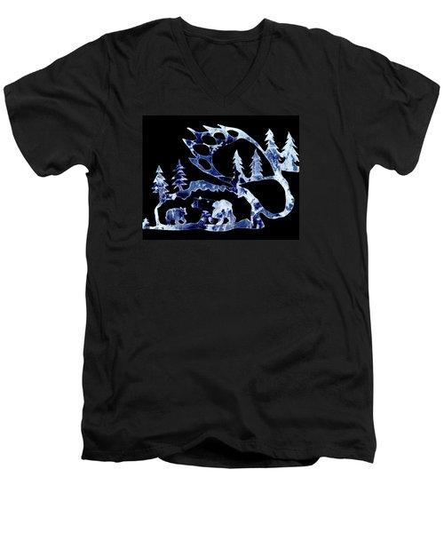 Ice Bears 1 Men's V-Neck T-Shirt by Larry Campbell