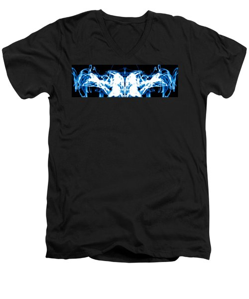Ice Blue Men's V-Neck T-Shirt
