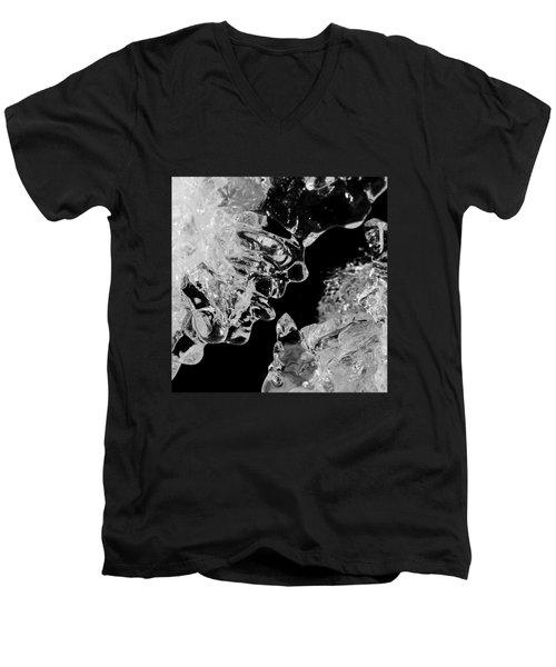 Ice Face Men's V-Neck T-Shirt by Konstantin Sevostyanov