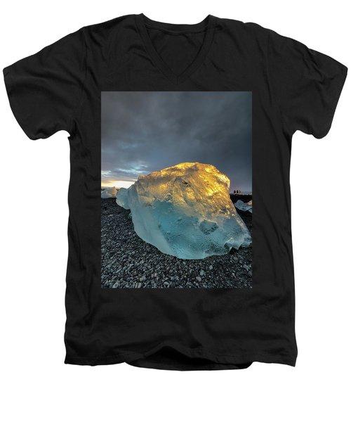 Men's V-Neck T-Shirt featuring the photograph Ice Fish by Allen Biedrzycki