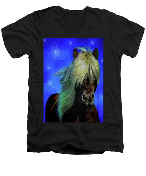 Icelandic Horse Men's V-Neck T-Shirt