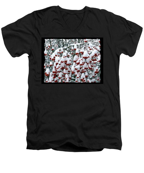Men's V-Neck T-Shirt featuring the digital art Icing On The Cake 2 by Will Borden