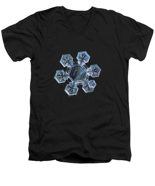 Men's V-Neck T-Shirt featuring the photograph Icy Jewel by Alexey Kljatov