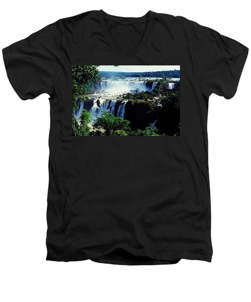 Iguacu Waterfalls Men's V-Neck T-Shirt