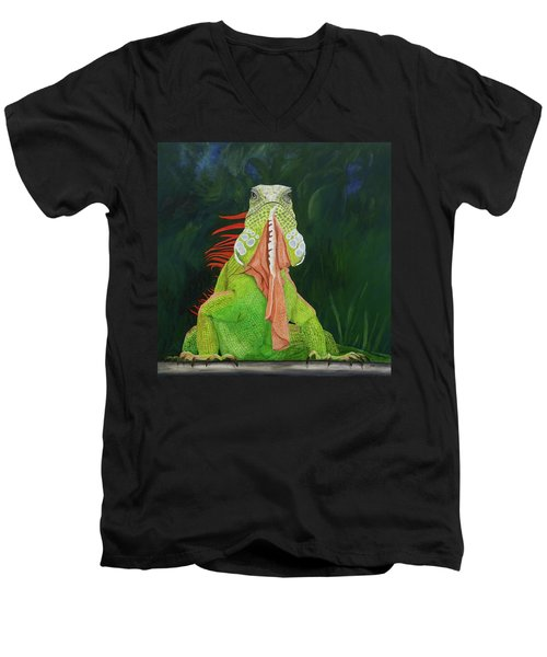 Iguana Dude Men's V-Neck T-Shirt