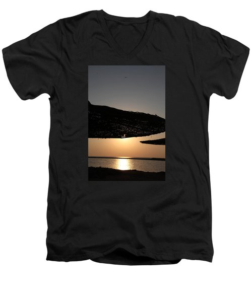 Men's V-Neck T-Shirt featuring the photograph I'll Miss You by Jez C Self