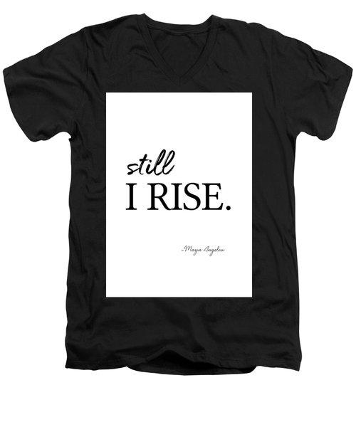 I'll Rise #minimalism 3 Men's V-Neck T-Shirt