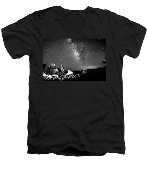 Men's V-Neck T-Shirt featuring the photograph Illuminati Iv by Ryan Weddle