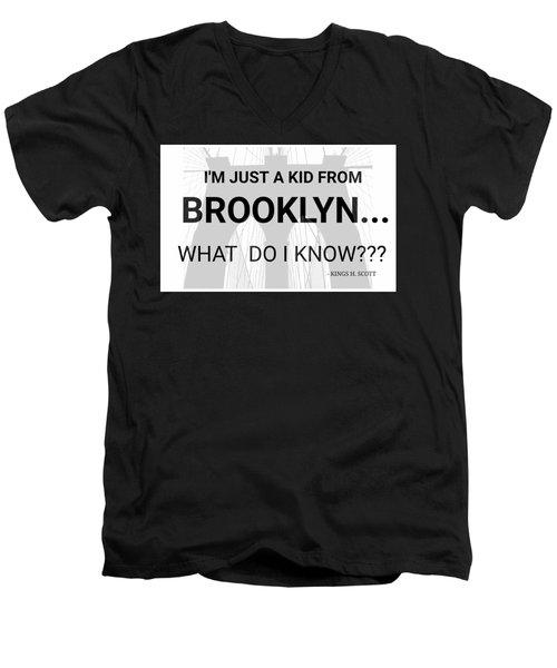 I'm Just A Kid... Men's V-Neck T-Shirt by Pat Odom