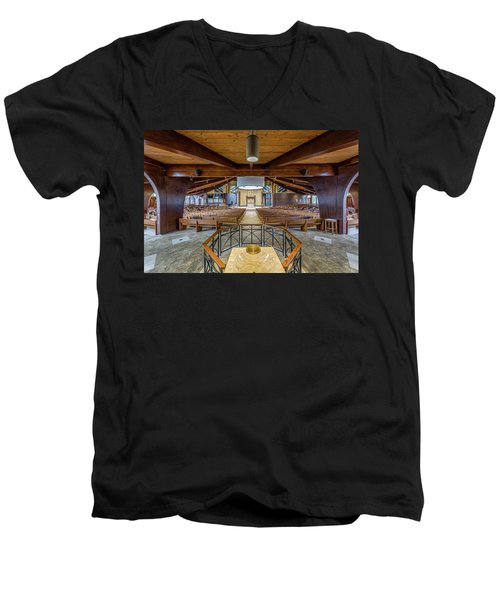 Men's V-Neck T-Shirt featuring the photograph Immaculate Conception 2848 by Everet Regal
