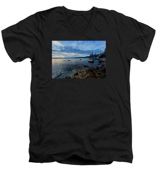 Immersed Men's V-Neck T-Shirt by Sean Sarsfield