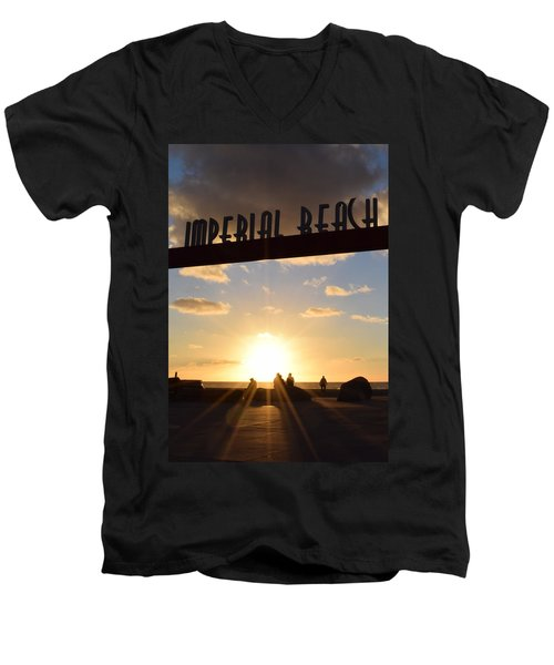 Imperial Beach At Sunset Men's V-Neck T-Shirt