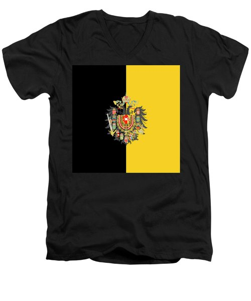 Habsburg Flag With Imperial Coat Of Arms 2 Men's V-Neck T-Shirt