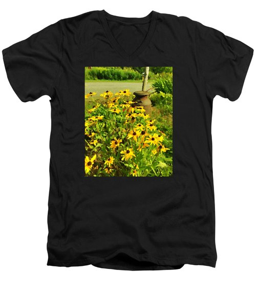 Impressions Of A Country Garden Men's V-Neck T-Shirt