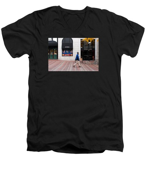 Men's V-Neck T-Shirt featuring the photograph In A Hurry by Monte Stevens