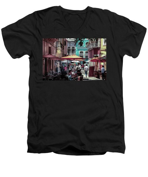 In A Little Spanish Town Men's V-Neck T-Shirt
