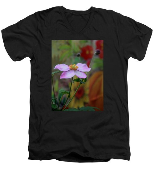 Men's V-Neck T-Shirt featuring the photograph In Bloom by Karen Harrison