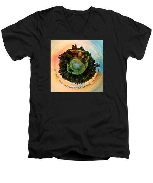 In Dreams A World Entirely Our Own Orb Men's V-Neck T-Shirt