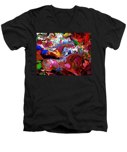 In Dreams Men's V-Neck T-Shirt by Loxi Sibley