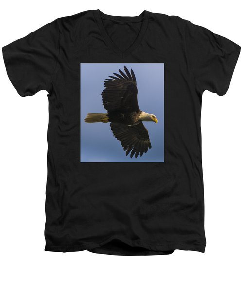 Men's V-Neck T-Shirt featuring the photograph In Flight by Gary Lengyel