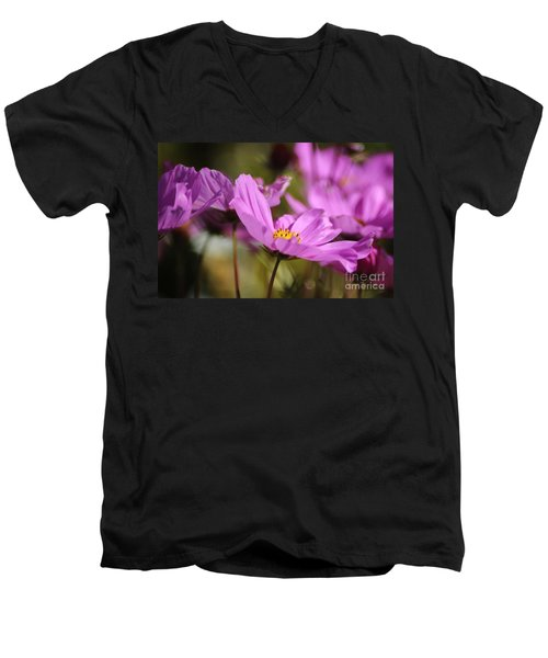 In Full Bloom Men's V-Neck T-Shirt by Sheila Ping