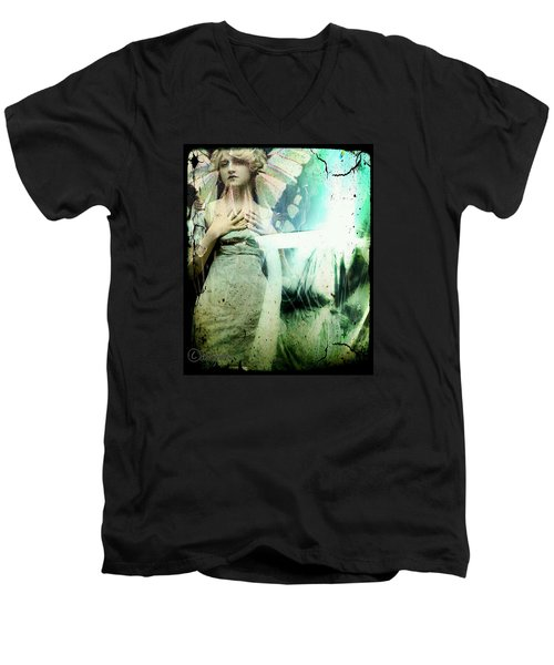 In Her Dreams She Could Fly Unfettered Men's V-Neck T-Shirt